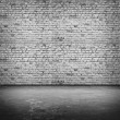 Grey bricks wall — Stock Photo