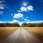 Blurred road — Stock Photo