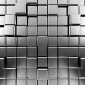Silver abstract cubes — Stock Photo