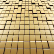 Abstract gold cubes — Stock Photo