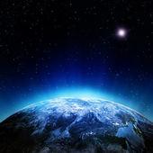 Atmósfera de nubes desde el espacio — Foto de Stock