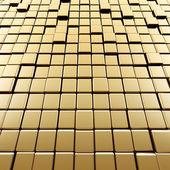 抽象的なゴールドのキューブ — ストック写真