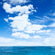 Cloudy sky and ocean — Stock Photo