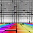 Rainbow floor interior - Stock Photo
