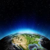 Estados unidos desde el espacio — Foto de Stock