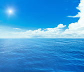 Blue sea and sky — Stock Photo
