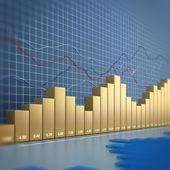 Finance chart — Stock Photo