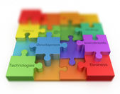 Puzzle business concept — Stock Photo