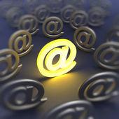 E-mail sign defocused — Stock Photo