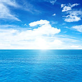 Tropical clouds and sea — Stock Photo
