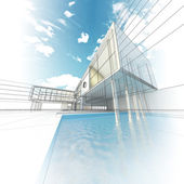 Moderne concept gebouw — Stockfoto