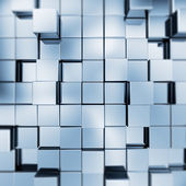 Abstract blue cubes — Stock Photo