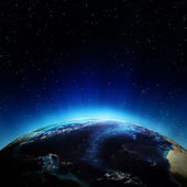 Atlantische oceaan vanuit de ruimte — Stockfoto