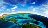 Uzaydan gelen orta amerika peyzaj — Stok fotoğraf
