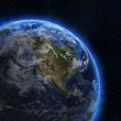 USA and Canada from space — Stock Photo