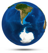 South America 3d isolated — Stock Photo