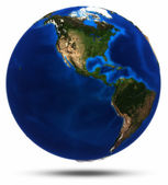 Planet Earth separated shadow — Stock Photo