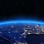 USA city lights map — Stock Photo #36276781
