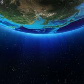 宇宙からの東アジアの風景 — ストック写真