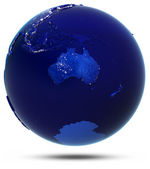 Australia globe white isolated — Stockfoto