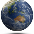 Stock Photo: Earth globe - Australiand Oceania
