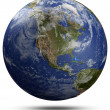 Stock Photo: Earth globe - USA