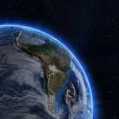 South America from space — Stock Photo