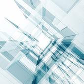 Edifício contemporâneo abstrato — Foto Stock