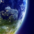 Europe from space background — Stock Photo