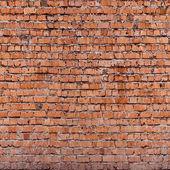Czerwony bezszwowe Cegła (tylko poziome — Zdjęcie stockowe