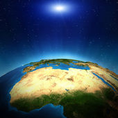 Africa from space — Stock Photo