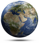 Earth globe - Africa, Europe and Asia — Stock Photo