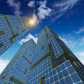 Tři mrakodrapy — Stock fotografie