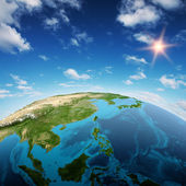 South-East Asia and Oceania — Stock Photo