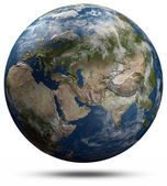 Earth globe - Eurasia — Stock Photo