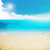 Sun and island beach — Foto Stock