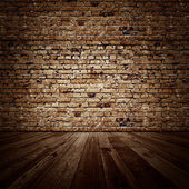 Vintage brickwall room — Stock Photo