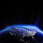 Luzes da cidade eua à noite — Fotografia Stock