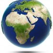 Earth model - Africa and Eurasia — Stock Photo #49519767