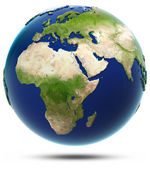 Earth model - Africa and Eurasia — Stock Photo