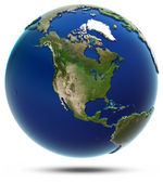 America global map - North America — Foto Stock