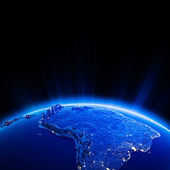 South America city lights at night — Stock Photo