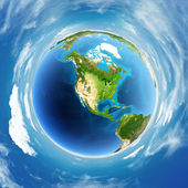 Globe real relief — Stock Photo