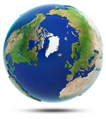 Earth north 3d map - Arctic — Stock fotografie