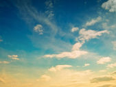 Abend wolken — Stockfoto