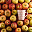 Apple and teacup — Stok fotoğraf