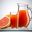 Stock Photo: Grapefruit juice