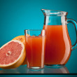 图库照片: Grapefruit juice