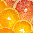 Orange und grapefruit — Stockfoto