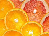 Orange and grapefruit — Stock Photo
